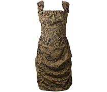 Drapiertes Kleid mit Spitzen-Print - women