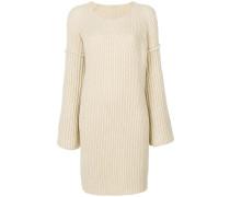 Langer Pullover mit Oversized-Ärmeln