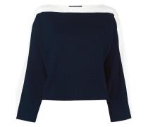 Pullover mit Streifeneinsatz