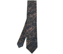 Krawatte mit Wirbel-Print