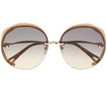 Oversized-Sonnenbrille mit runden Gläsern