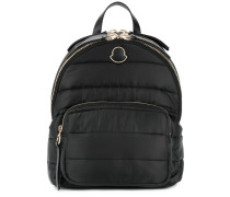 logo patch padded backpack