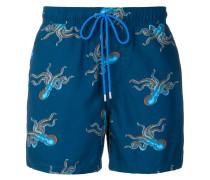 octopus print swimming shorts