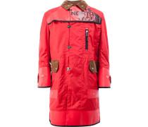 Doppelreihiger Mantel mit Print