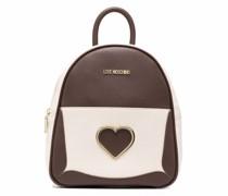 Rucksack aus Faux-Leder mit Herz