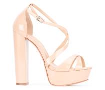 Sandalen mit Blockabsatz - women - Leder/PVC