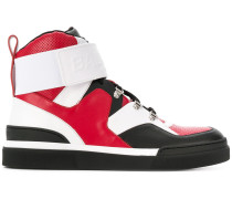 colour block hi-top sneakers