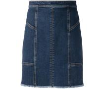 Jeans-Minirock mit Einsätzen