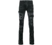 distressed look skinny jeans