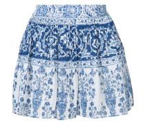 Plissierte Shorts mit Print