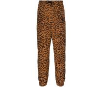 Jogginghose mit Leoparden-Print
