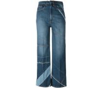Cropped-Jeans mit Einsätzen - women - Baumwolle