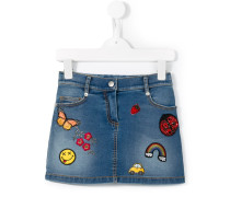 - Jeansrock mit Patches - kids