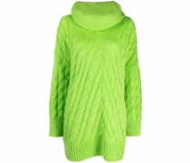Oversized-Pullover mit Zopfmuster