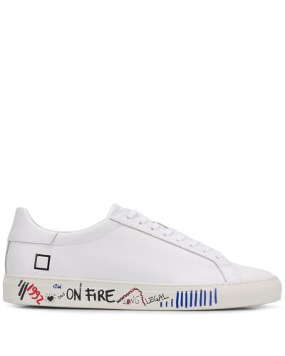 D.A.T.E. Sneakers mit Graffiti-Print