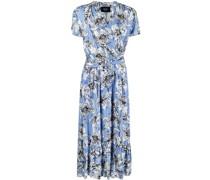 floral-print belted dress