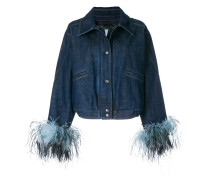contrast cuff denim jacket