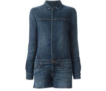 Ausgefranster Jeans-Playsuit
