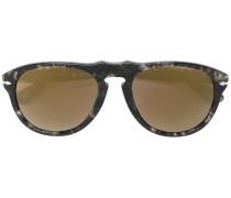 Pilotenbrille mit marmoriertem Effekt