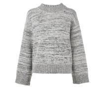 Melierter Pullover mit Stehkragen - women