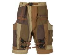 Cargo-Shorts mit Patchwork-Print