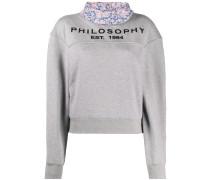 Sweatshirt mit Kontrastkragen