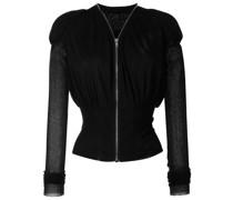 Taillierte Cropped-Jacke mit Falten