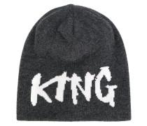 """Kaschmirbeanie mit """"King""""Schriftzug"""