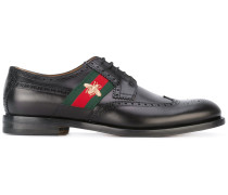 bee embroidery derby shoes - men - Leder - 6.5