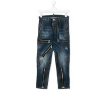 Teen zip detail jeans