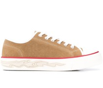 Sneakers mit Flammen-Detail