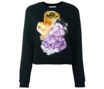 Sweatshirt mit Kristall-Print