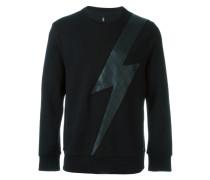 Sweatshirt mit Blitz-Patch