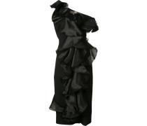 Seidenkleid mit Volantes - women - Seide - 0