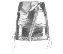 Minilederrock im Biker-Look