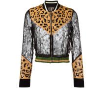Spitzenjacke mit Leopardenmuster