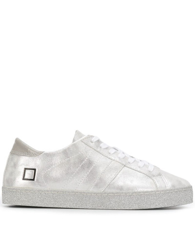 D.A.T.E. Sneakers im Metallic-Look