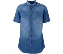 Jeanshemd mit kurzen Ärmeln - men - Baumwolle
