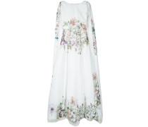 Cape-Abendkleid mit Blumenmuster