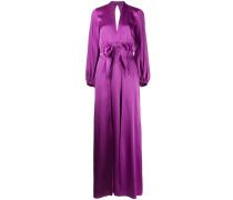 Drapierte 'Grace' Robe mit Schleife
