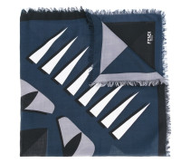 printed scarf - men - Seide/Wolle
