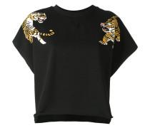 Lockeres T-Shirt mit Tiger-Print