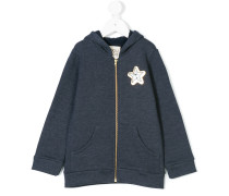 star patch hooded sweatshirt