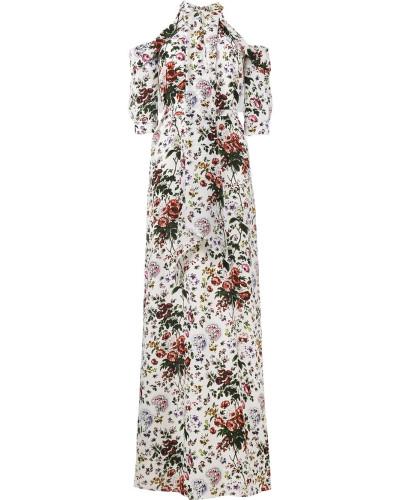 'Annaliese' Seidenrobe mit floralem Print