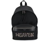 Heaven embellished backpack