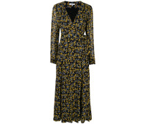Marceau Georgette floral wrap dress