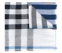 - check scarf - men - Leinen/Flachs