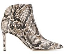 'Tysha' Stiefel mit Schlangen-Effekt