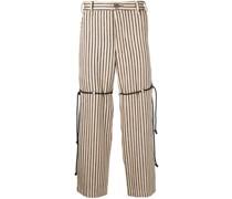 Weite Cropped-Hose mit Streifen