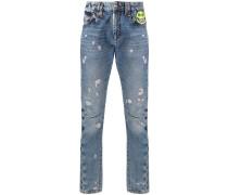 Evil Smile patch jeans